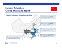 China industry: going west